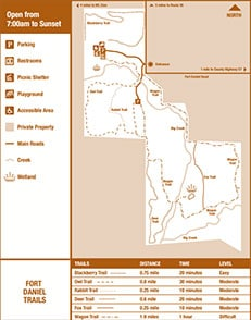 Map of Fort Daniel Conservation Area