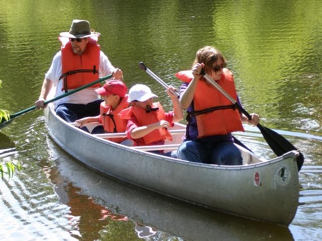 Canoe the Bike Trail Pond