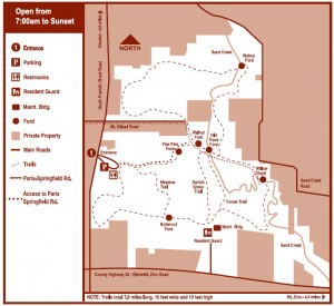 Sand Creek Conservation Area Map (click to view enlarged version)