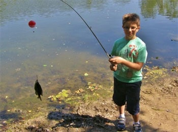 boy fishing at Rock Springs