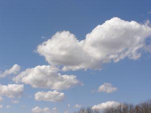 clouds on a blue sky