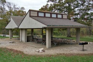 Small Pavilion for Rent at Friends Creek Conservation Area
